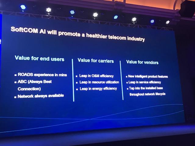 Huawei SoftCOM AI healthier telecom industry