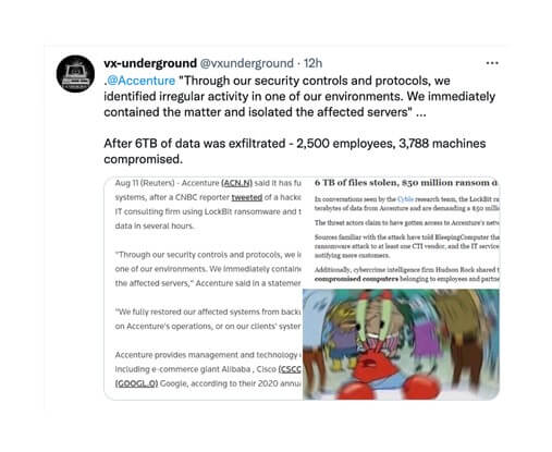 Accenture Falls Victim to Ransomware Attack Following Report of Increase in …. Ransomware
