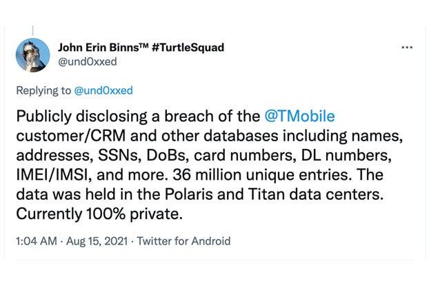 T‑Mobile's Massive Data Breach Impacts 100 Million+ T-Mobile USA Customers